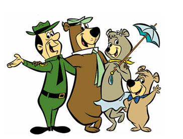 Yogi and Boo Boo Cartoon Family